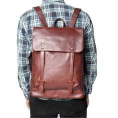 QUANGANG PU Leather Travel Duffle Tote College Bag Backpack Rucksack For Men. Size Info(Inch): 14.96 * 11.02*3.94. Material:PU Leather. Main color and structure as picture on the left show£¬you can see it. Brand new,High quanlity. Good Style,fine workmanship.