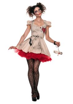 Got any ex boyfriends that you'd like to get even with? Perfect! This Womens Plus Size Voodoo Doll Costume is right up your alley.
