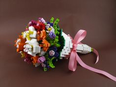 Construction Toys of the Year Cute Wedding Ideas, Wedding Themes, Lego Flower, Lego Wedding, Lego Animals, Lego Craft, Cool Lego, Awesome Lego, Lego Projects