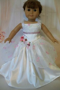 American Girl Doll Clothes. Beautiful White and by MyKaraBella, $38.00