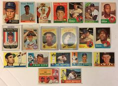 Lot of 20 Vintage 1950's and 1960s Topps Baseball Cards Including Some HOFers, Rookies, and Stars!