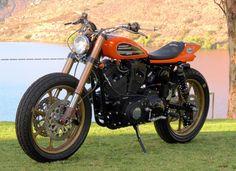 HARLEY SPORTSTER 'MICHIGAN MAFIA' - MULE MOTORCYCLES - THE KNEESLIDER