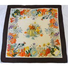 GUCCI Elegant Silk Vintage Colourful Scarf shawl by CillaCarol