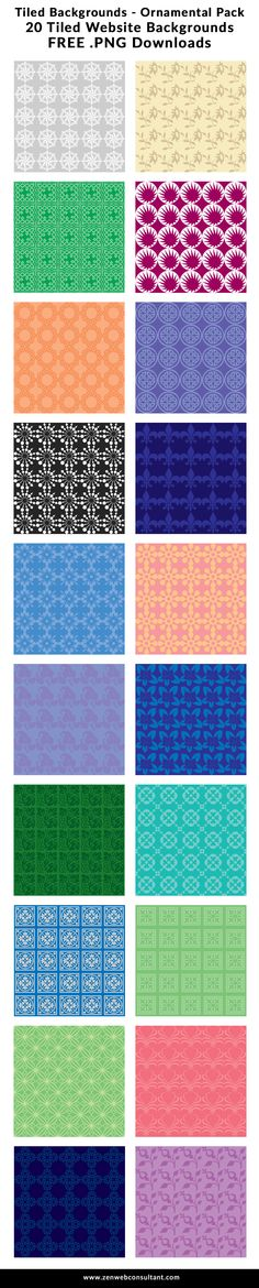 Free tiled website backgrounds! Seamless, repeating, and easy. #backgrounds #webdesign #webdev