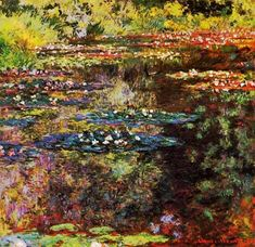 Claude Monet: Water Garden at Giverny - 1904