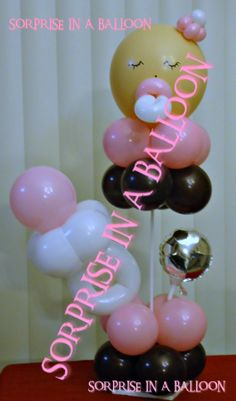 BABY SHOWER WITH BALLOONS BY SORPRISE IN A BALLOON LIKE US ON FACEBOOK