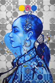 Spanish painter and graffiti artist Zeta. A hip-hop and soul music producer since the 80's, Zeta takes his love for music and translates it on to canvas with a vibrancy that is clear for all to see.