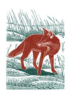 Fox In The Snow poster-print £12.00