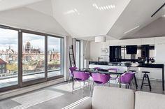 03 Apartment in Gdańsk//Formativ. Ceiling, Windows, Interior Design, Kitchen, Poland, Nest Design, Ceilings, Cooking, Home Interior Design