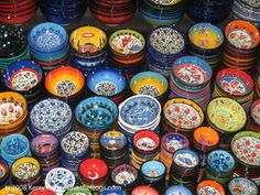 Bowls from the Grand Bazaar in Istanbul, Turkey
