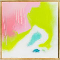 "Jenny Prinn Ebb 4 Acrylic and Mixed Media on canvas. Handmade frame by the artist. 12"" x 12"""