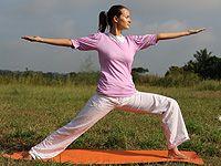 Virabhadrasana Yoga Pose - Warrior Yoga Pose