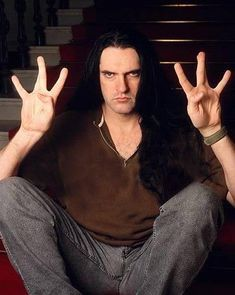 Peter Steele doing the vulcan greeting Type 0 Negative, Doom Metal Bands, Grunge Hippie, Peter Steele, Now And Forever, Green Man, Beautiful Soul, Beautiful People, Fallout