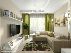 Гостиная в зеленая тонах