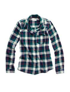 Madewell Foxtail Shrunken Flannel Boyshirt $70... looks cozy