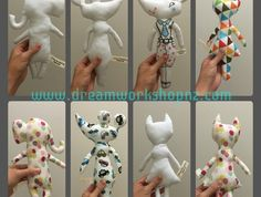 fabric colouring dolls for birthday party