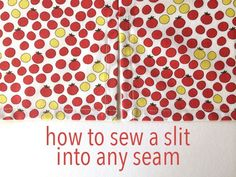 how to sew a slit into any seam