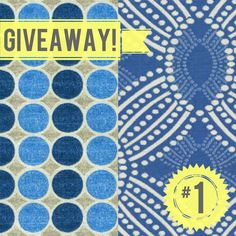 Click the pin to enter for a chance to win four yards of the new @HGTV HOME line available exclusively at Jo-Ann or click here to enter: https://www.wf-site.com/microsite/pages/0b45b37cfb56e733  Two yards of Round Trip Azure (left) and two yards of Time Zone Azure (right). Note: The screen will stay the same even after you've submitted the form. No worries, though, we're getting your entries :)