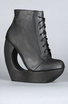 The Roxie Shoe in Distressed Black