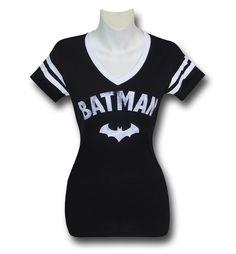 Batman Symbol Women's Varsity V-Neck T-Shirt