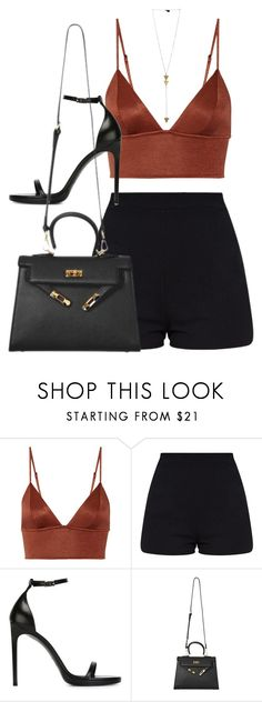 """Sans titre #1328"" by xoaninxo ❤ liked on Polyvore featuring Fleur du Mal and Yves Saint Laurent"
