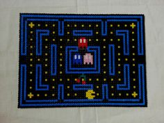 Pacman video game table place mats pack of 4 perler beads ( approx 34 by 25 cms) by KimsHandmadeCave,