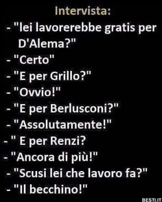 Lei lavorerebbe gratis Funny Video Memes, Funny Jokes, Funny Images, Funny Photos, Italian Memes, Savage Quotes, More Than Words, Smile, Sink Tops