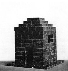 Adolf Loos, model, mausoleum for art historian Max Dvorak, 1921
