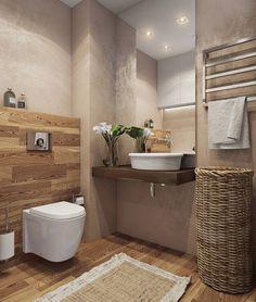 Baños de estilo minimalista de Angelina Alekseeva