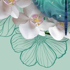 """""""Melissa's Dragonfly"""" Detail. A small piece I made for a special person's birthday. #Insect #3dmodel #artwork #organic #orchids #dragonfly"""