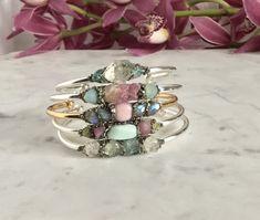 Raw Stone Cuff Boho Labradorite Bracelet by IWasBornToShine