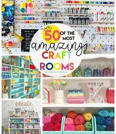 50 great craft rooms to inspire your craft organization