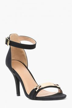 Nametag Heels in Black | Necessary Clothing