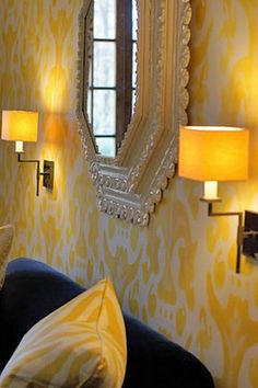 Jones Painted Finishes and Driscoll design group Living Area, Living Room, Yellow Interior, Mirror Painting, Interior Decorating, Interior Design, Mellow Yellow, Custom Paint, Ideal Home