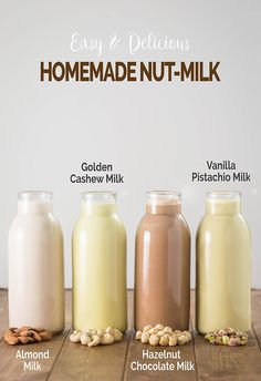 Learn to make preservative-free homemade nut milk and nut butter using The NutraMilk Perfect to add dairy-free milk and healthy essential fats into the diet ad TheNutraMilk Pmedia Dairy Free Recipes, Raw Food Recipes, Healthy Recipes, Almond Milk Recipes, Almond Milk Diy, Chocolate Almond Milk, Nut Recipes, Flour Recipes, Veggies