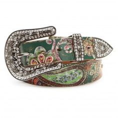 Gorgeous!! Nocona Floral Painted Belt $74.99
