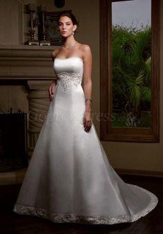 wedding dress,wedding dresses,wedding dress,wedding dresses graceful satin empire with applique chapel train wedding dress