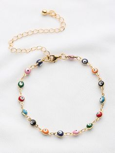 To find out about the Colorful Beaded Design Chain Bracelet at SHEIN, part of our latest Bracelets ready to shop online today! Fashion Jewelry, Women Jewelry, Gold Chains For Men, Best Jewelry Stores, Jewelry Bracelets, Jimmy Choo, Creations, Beaded Necklace, Moon Necklace