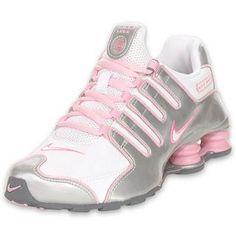 best service d82f8 1b191 Nike Kids Shox NZ Running Shoe White Silver Pink