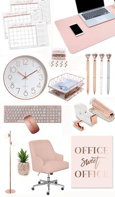 Are you obsessed with rose gold? If youre looking for some chic rose gold office and desk accessories, then you found the right pin! Check out this curation of rose gold office and desk accessories. Room Decor Bedroom Rose Gold, Rose Gold Rooms, Bedroom Decor For Teen Girls, Room Ideas Bedroom, Cute Room Ideas, Cute Room Decor, Gold Office Decor, Gold Office Supplies, Office Themes