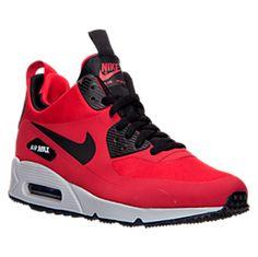 Nike Men's Air Max 90 Mid Winter Casual Sneakers from Finish Line Best Sneakers, Casual Sneakers, Air Max Sneakers, Casual Shoes, Sneakers Nike, Slip On Shoes, Men's Shoes, Nike Shoes, Mens Nike Air