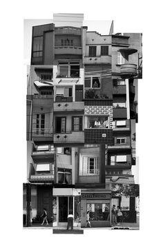 (des)construções #4 fotografia e colagem 82 x 130 cm
