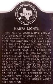 Marfa Lights Marker