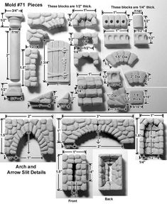 D&D Terrain Hirst Arts precast set from Fieldstone Accessories Mold 71 - Cast in resin Christmas Village Display, Christmas Villages, Christmas Nativity, Christmas Crafts, Fantasy Miniatures, Dollhouse Miniatures, Diy Dollhouse, Miniature Crafts, Miniature Houses