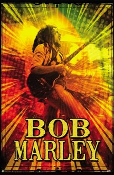 "Bob Marley - Rasta Guitar Poster - $9.99  The rasta man jams away on this poster. Approx. size is 24"" x 36"""