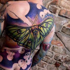 Backpiece Tattoo, Moth Tattoo, Tattoo Motive, Tattoo Art, Giant Butterfly, Back Tattoos, Tatoos, First Tattoo, Deathly Hallows Tattoo