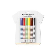 Six marker pens for embellishing textiles. Wear your art as outerwear for £2