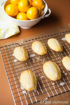 Meyer Lemon Madeleines from The Little Kitchen (Curated for BlogHer Loves Holiday Cookies sponsored by BankAmericard Cash Rewards™ credit card)