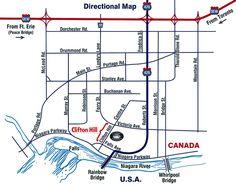 Clifton Hill Map Gallery | Clifton Hill, Niagara Falls Canada
