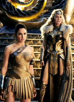 Princess Diana and Queen HippolytaWonder Woman (2017)